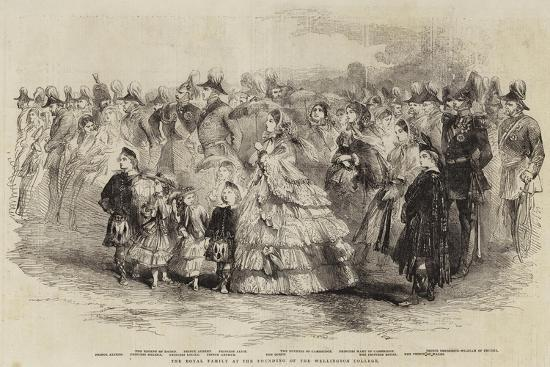 The Royal Family at the Founding of the Wellington College--Giclee Print