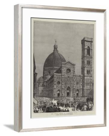 The Royal Fetes at Florence, Italy--Framed Giclee Print