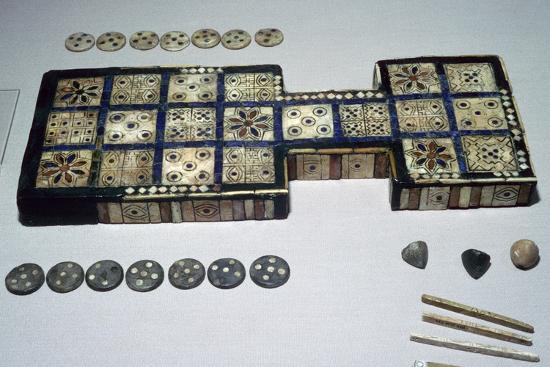 The Royal Game of Ur, from Ur, southern Iraq, c2600-c2400 BC. Artist: Unknown-Unknown-Giclee Print