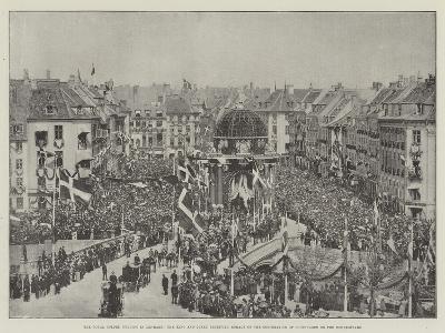 The Royal Golden Wedding in Denmark--Giclee Print