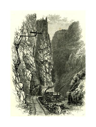 The Royal Gorge of the Arkansas, 1891, USA--Giclee Print
