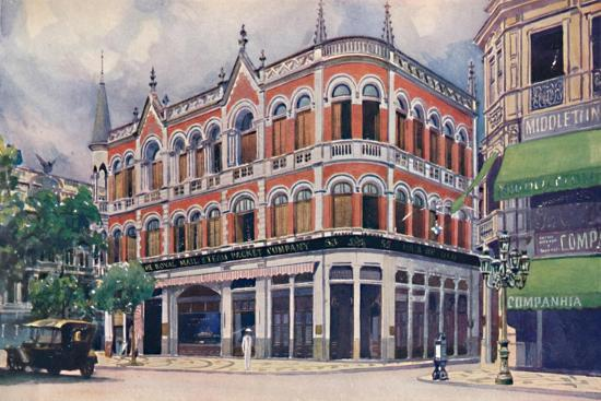 'The Royal Mail Steam Packet Company's Offices, Avenida Rio Branco.', 1914-Unknown-Giclee Print