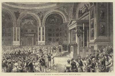 The Royal Marriage at Berlin, the Wedding Ceremony in the Chapel of the Schloss--Giclee Print