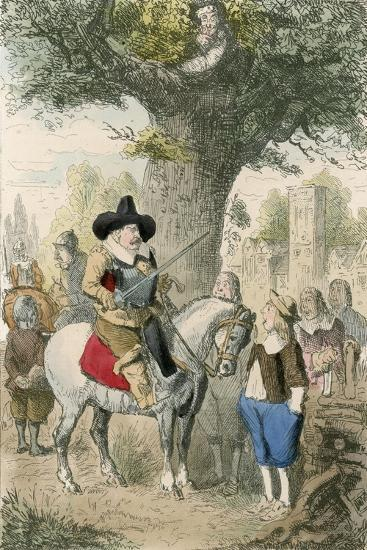 The Royal Oak, the Penderell Family Have No Idea Where Charles Is!!!-John Leech-Giclee Print