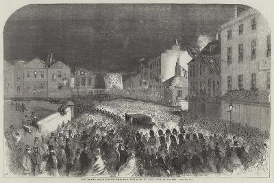 The Royal Pair Drawn Through Windsor by the Eton Scholars--Giclee Print