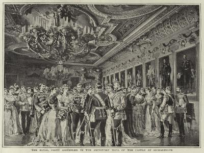 The Royal Party Assembled in the Ancestors' Hall of the Castle at Sigmaringen--Giclee Print