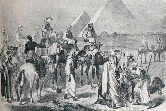 The royal party leaving the encampment at Giza, Egypt, c1861 (1910)-Unknown-Giclee Print