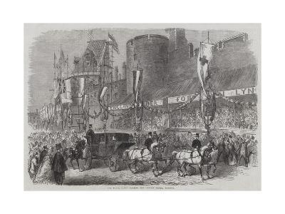 The Royal Party Passing the Curfew Tower, Windsor--Giclee Print