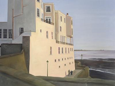The Royal Pier Hotel. Evening Light with Elderly Couple, 2006-Peter Breeden-Giclee Print