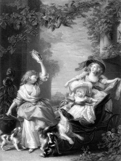 The Royal Princesses, Children of King George III, 19th Century-Robert Graves-Giclee Print