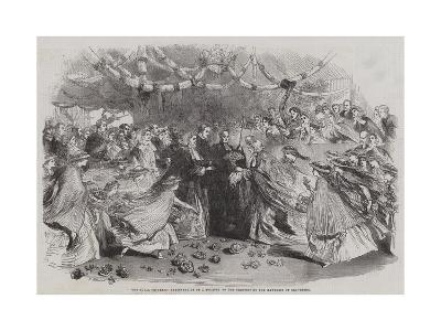 The Royal Progress, Presentation of a Bouquet to the Princess by the Mayoress of Gravesend--Giclee Print
