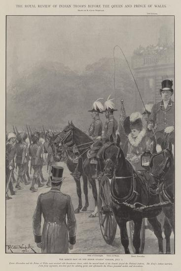 The Royal Review of Indian Troops before the Queen and Prince of Wales-Richard Caton Woodville II-Giclee Print