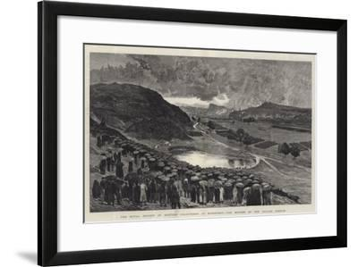 The Royal Review of Scottish Volunteers at Edinburgh, the Muster on the Parade Ground--Framed Giclee Print