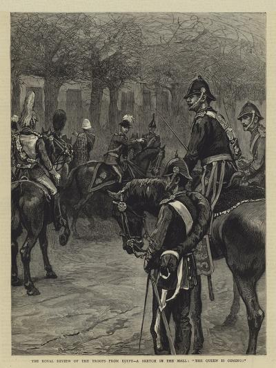 The Royal Review of the Troops from Egypt, a Sketch in the Mall, The Queen Is Coming!--Giclee Print