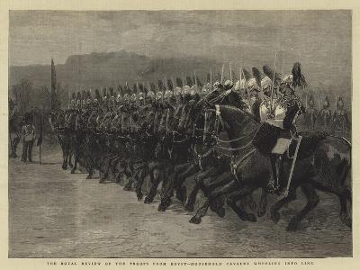 The Royal Review of the Troops from Egypt, Household Cavalry Wheeling into Line--Giclee Print