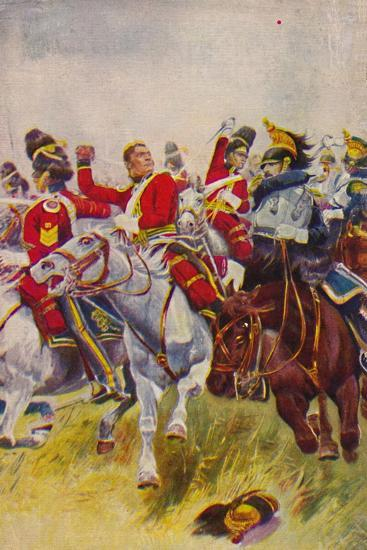 'The Royal Scots Greys. The Charge of the Greys at Waterloo', 1815, (1939)-Unknown-Giclee Print