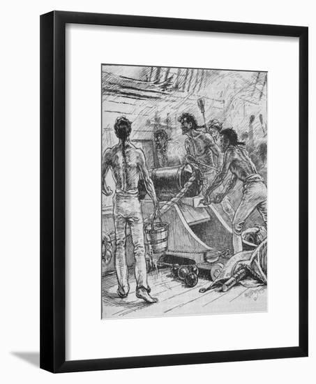 'The 'Royal Sovereigns' Stuck To Their Guns, and Fought Them Like Fiends', 1902-Paul Hardy-Framed Premium Giclee Print