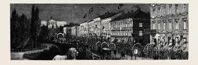 The Royal Swedish Marriage; Reception of the Crown Prince of Sweden and Norway and His Bride at Chr--Giclee Print