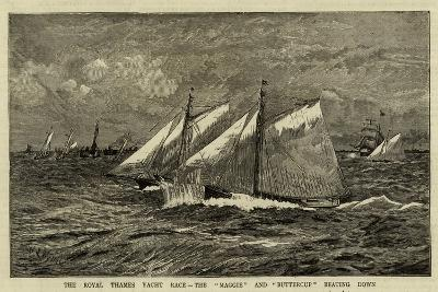 The Royal Thames Yacht Race, the Maggie and Buttercup Beating Down-William Lionel Wyllie-Giclee Print