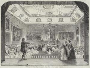 The Royal Theatricals, in the Rubens Room, at Windsor Castle
