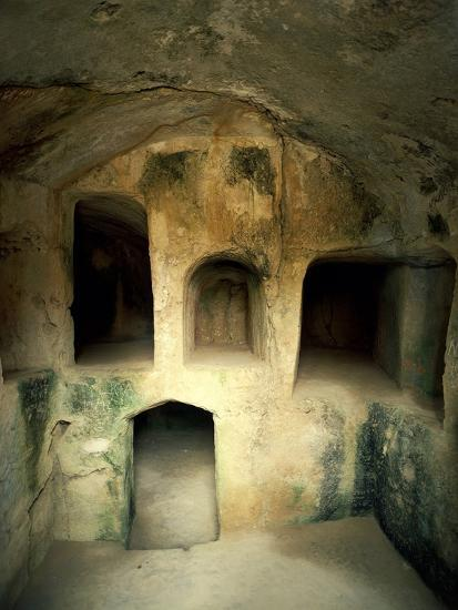 The Royal Tombs at Old Paphos--Photographic Print