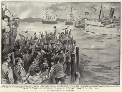 The Royal Tour, Cheering the Ophir on Her Departure from Gibraltar-Sydney Prior Hall-Giclee Print