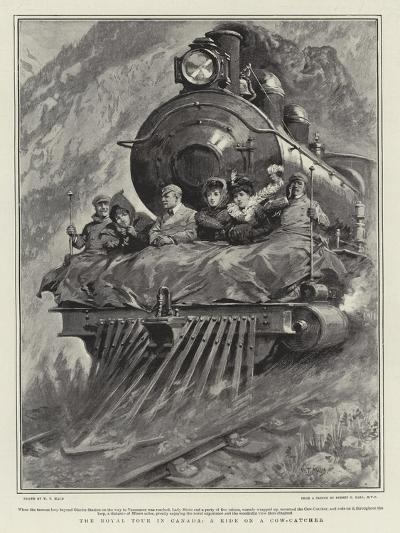 The Royal Tour in Canada, a Ride on Cow-Catcher-William T^ Maud-Giclee Print