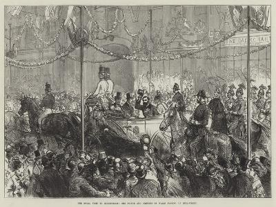 The Royal Visit to Birmingham, the Prince and Princess of Wales Passing Up Bull-Street--Giclee Print
