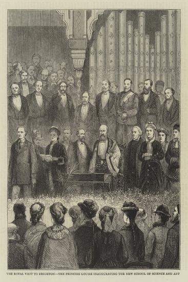 The Royal Visit to Brighton, the Princess Louise Inaugurating the New School of Science and Art--Giclee Print