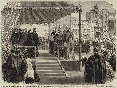 The Royal Visit to Cambridge--Giclee Print