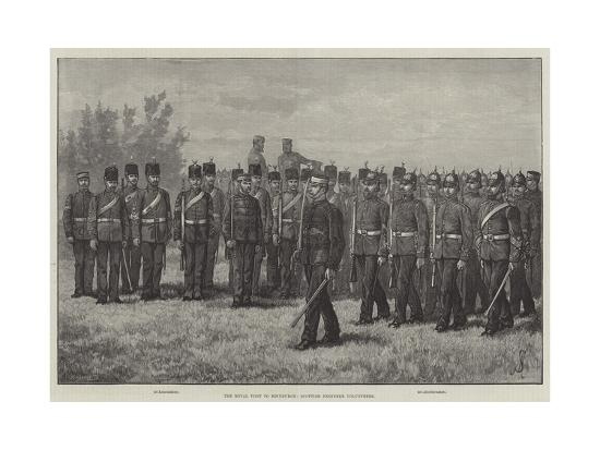 The Royal Visit to Edinburgh, Scottish Engineer Volunteers-Johann Nepomuk Schonberg-Giclee Print