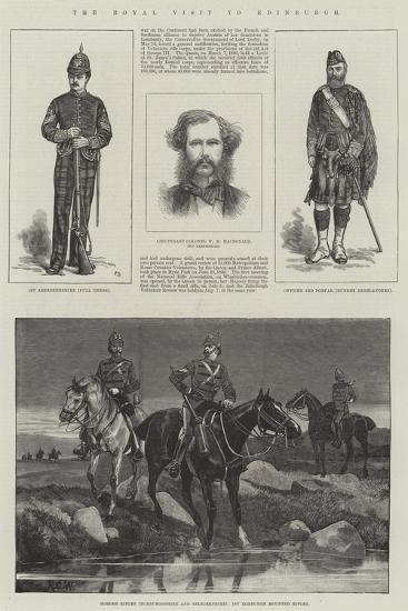The Royal Visit to Edinburgh-Frank Dadd-Giclee Print