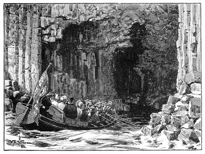 The Royal Visit to Fingal's Cave, Staffa, Scotland, 1847-William Barnes Wollen-Giclee Print