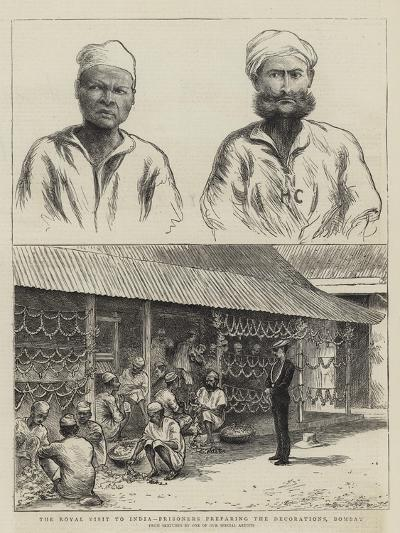 The Royal Visit to India, Prisoners Preparing the Decorations, Bombay--Giclee Print