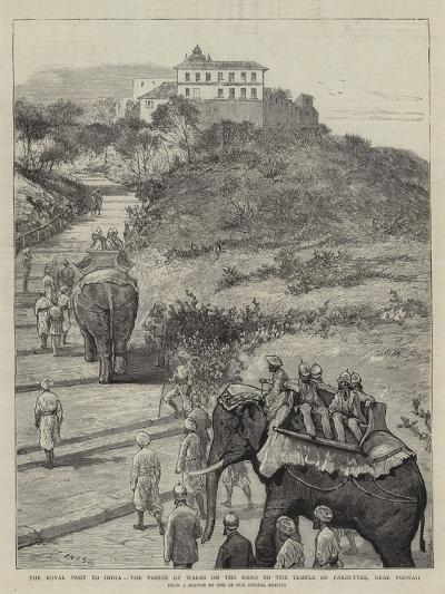 The Royal Visit to India, the Prince of Wales on the Road to the Temple of Parbuttee, Near Poonah-Joseph Nash-Giclee Print