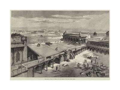 The Royal Visit to India, the Taj Mahal, from the Fort, Agra-Richard Principal Leitch-Giclee Print