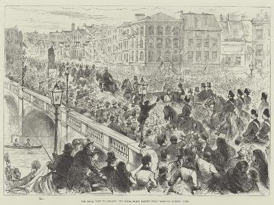 The Royal Visit to Ireland, the Royal Party Passing over Parnell Bridge, Cork--Giclee Print