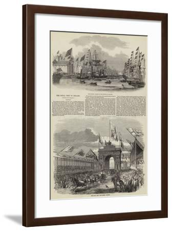The Royal Visit to Ireland--Framed Giclee Print