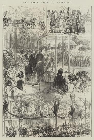 The Royal Visit to Sheffield-Charles Robinson-Giclee Print