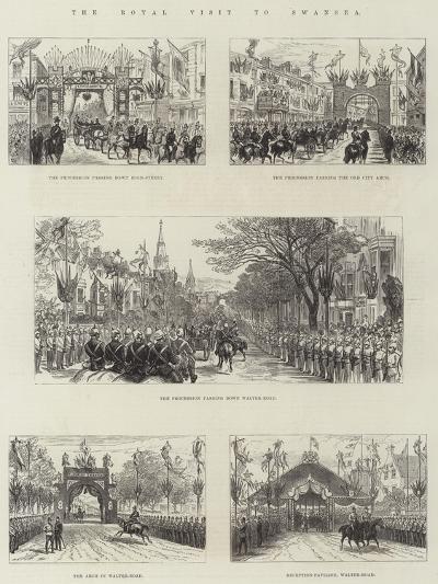 The Royal Visit to Swansea-Frank Watkins-Giclee Print