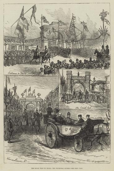 The Royal Visit to Truro, the Triumphal Arches--Giclee Print