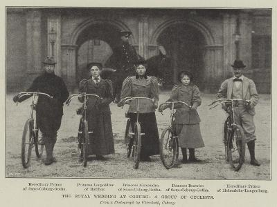 The Royal Wedding at Coburg, a Group of Cyclists--Giclee Print