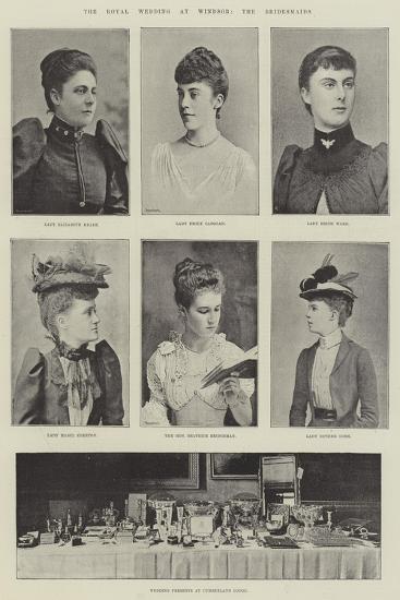 The Royal Wedding at Windsor, the Bridesmaids--Giclee Print