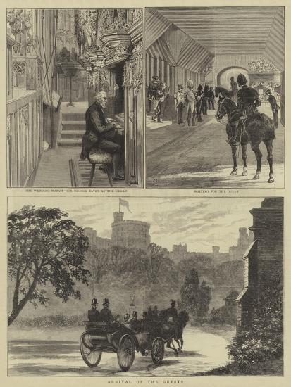 The Royal Wedding at Windsor-Alfred Chantrey Corbould-Giclee Print