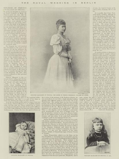 The Royal Wedding in Berlin--Giclee Print