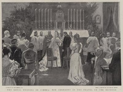 The Royal Wedding in Vienna, the Ceremonial in the Chapel of the Hofburg-William Hatherell-Giclee Print