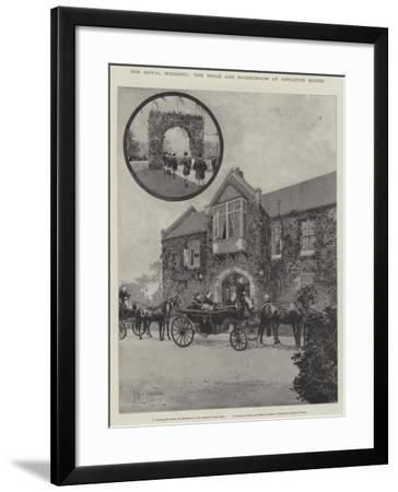 The Royal Wedding, the Bride and Bridegroom at Appleton House-Joseph Holland Tringham-Framed Giclee Print