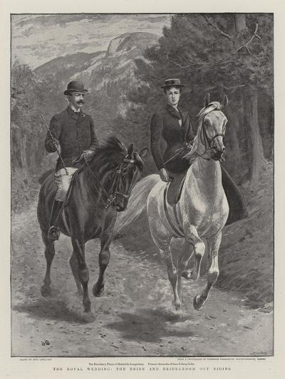 The Royal Wedding, the Bride and Bridegroom Out Riding-John Charlton-Giclee Print