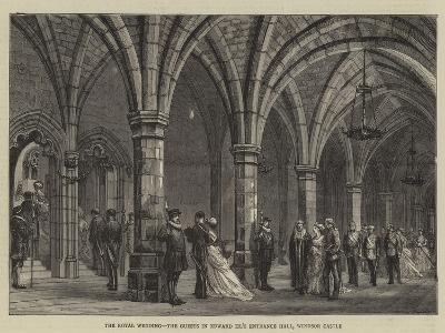 The Royal Wedding, the Guests in Edward Iii's Entrance Hall, Windsor Castle--Giclee Print