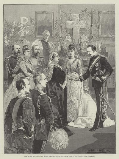 The Royal Wedding, the Queen Shaking Hands with the Duke of Fife after the Ceremony-Thomas Walter Wilson-Giclee Print